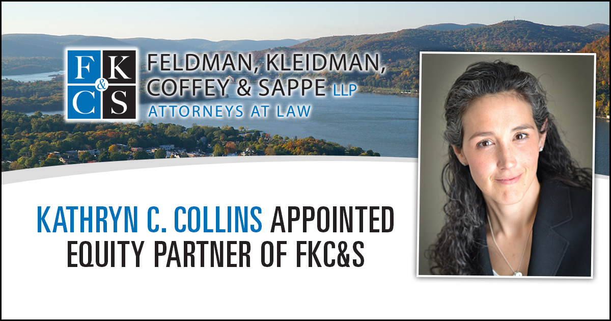 Kathryn C. Collins appointed equity partner of Feldman, Kleidman, Coffey and Sappe LLP